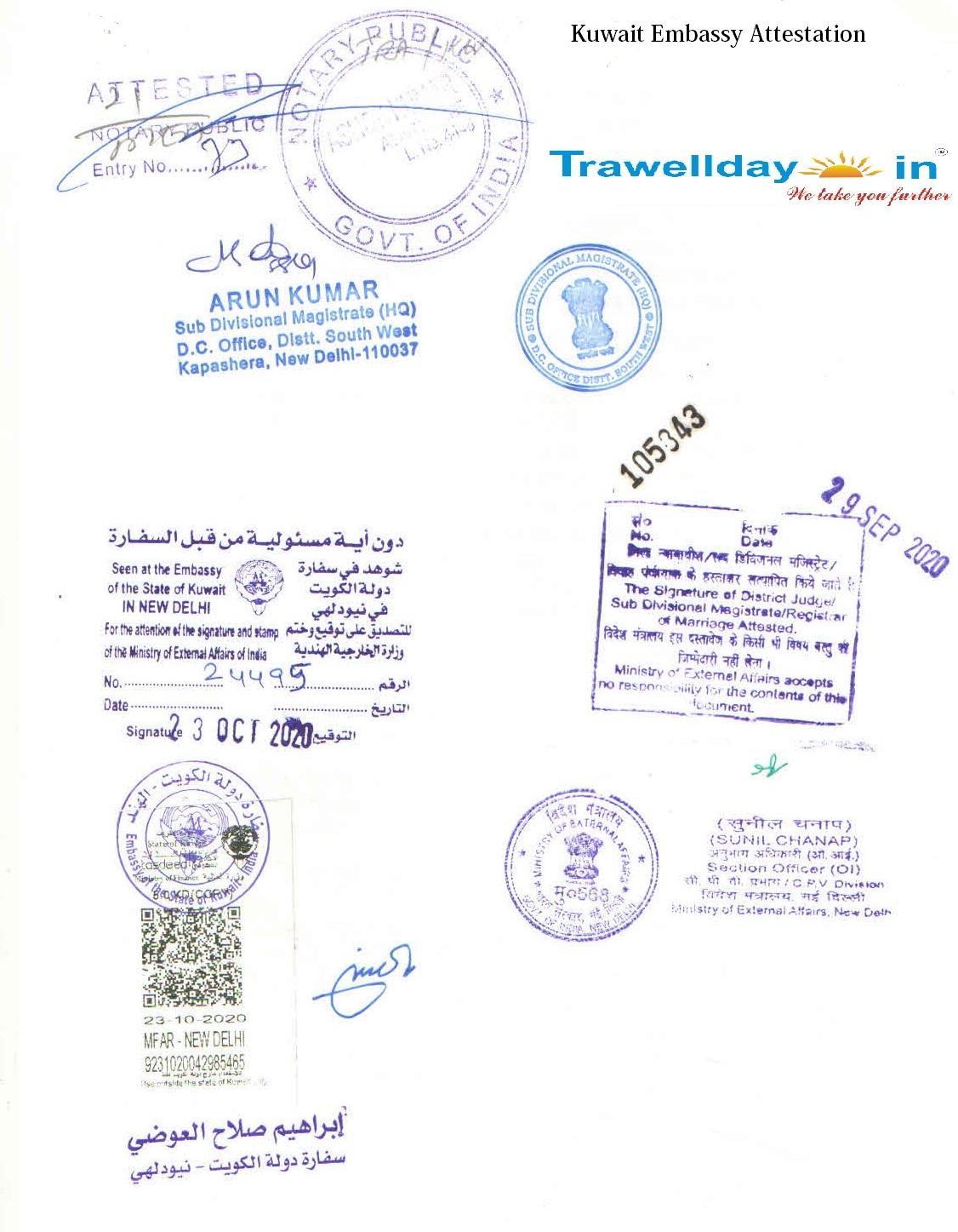 Kuwait-Embassy-Attestation-sample