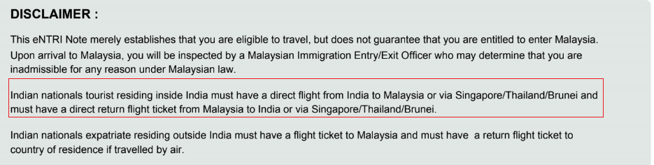 Malaysia-online-visa-Disclaimer