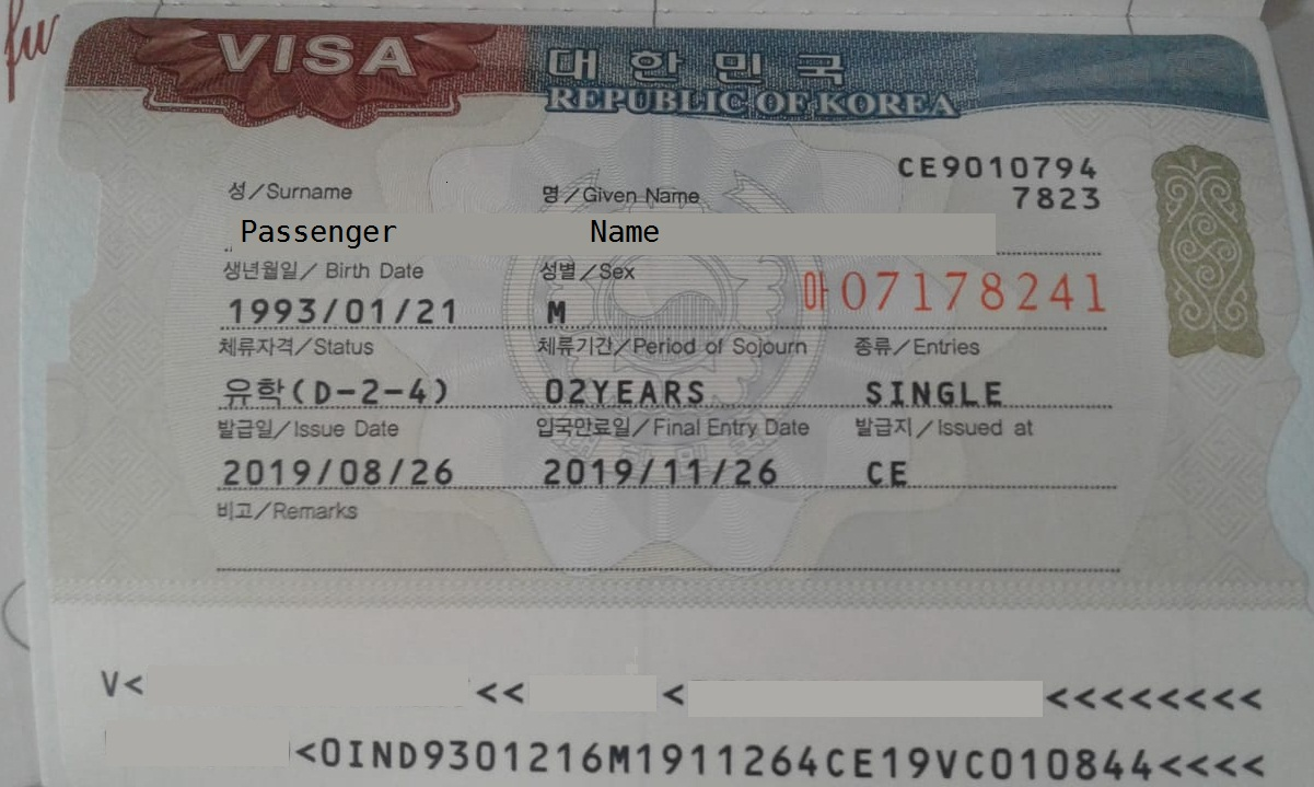 South Korea Student Visa